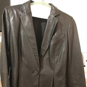 Black small leather jacket